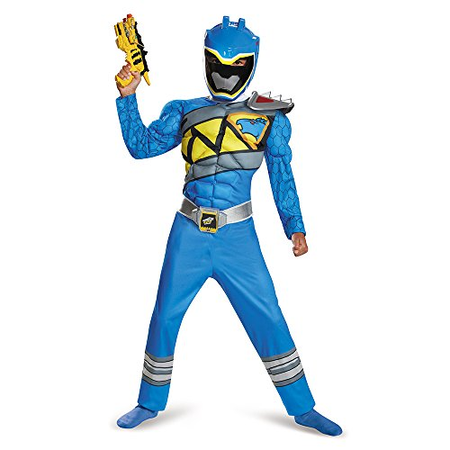 Disguise Blue Ranger Dino Charge Classic Muscle Costume, Large (10-12)