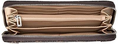 GUESS Delaney Large Zip Around - Brown Wallet