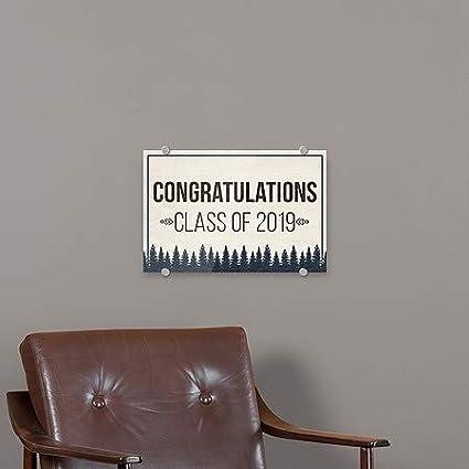 Graduation Party Rustic Boy Premium Acrylic Sign 27x18 5-Pack CGSignLab