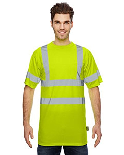 Occunomix Birdseye Wicking T-Shirt, Class 3, Yellow, M