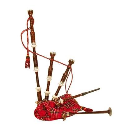 e234b09f7b6b Amazon.com  Royal Stewart Rosewood Bagpipe with Hardwood Case  Musical  Instruments