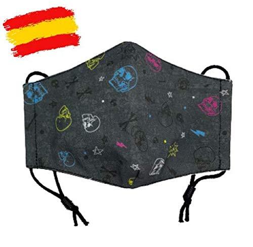 Mascarilla higiénica de tela infantil homologada UNE 0065 niño 7-8-9 años con filtro fijo lavable_marca: Brissa España: Amazon.es: Handmade