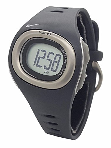 Nike Heart Rate Monitor Watch (Nike Triax HRM C3 SM0013 Anthracite Black Silicone Heart Rate Monitor Watch)