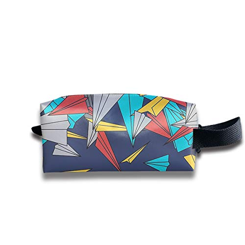 YUAN TING Falling Paper Planes Popular Handy Makeup Organizer Bags Large Capacity Pencil Case Cosmetic Bags for Travel Home Toiletry Purse Pouch with Zipper