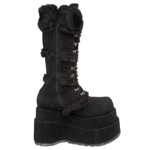 Vegan Demonia BEAR Blk 202 Suede Black wxZxqYBA0