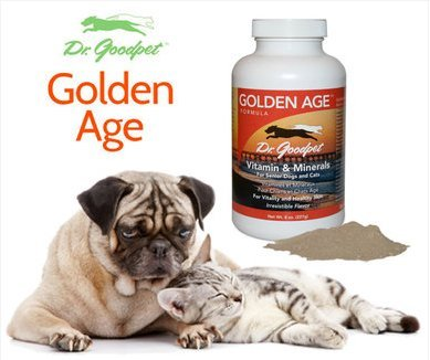Picture of Dr. Goodpet Golden Age All Natural Potent Multi-Vitamin/Mineral Powder for Adult Dogs & Cats