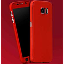 Galaxy S7 Edge Armor Case, 360° Full Edge Combined Awesome Ultra Hybrid Cover With Clear, TAITOU Cool Ultralight Slim Anti-Drop Phone Case For Samsung Galaxy S7Edge Red
