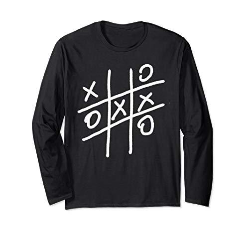 Noughts and Crosses Shirt Tic Tac Toe Board Game Shirt Long Sleeve T-Shirt]()