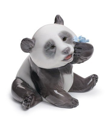 A HAPPY PANDA Lladro Porcelain by Lladro Porcelain