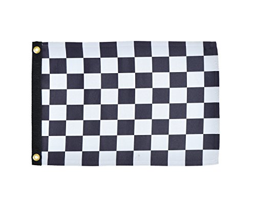 In the Breeze Checkered Flag Lustre Grommeted Boat Flag, 12 by 18-Inch]()