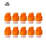 YaeTek 100pcs Spacers Flooring Level Tile Leveling Spacer Set System Construction Wall Floor Balance Tool Leveler Lippage DIY (- Straps with Cap)