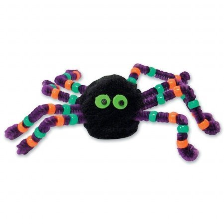 Darice Halloween Beaded Spider Foam Activity (Black/Purple) Party Accessory]()