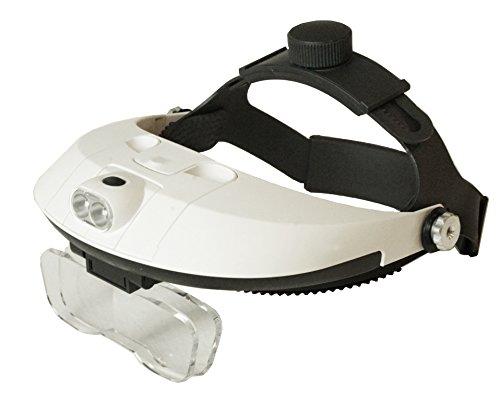 101Color Head Mount Magnifier Glasses with Detachable Ultra Bright LED Head Lamp - 5 Interchangeable Lenses: 1.0X, 1.5X, 2.0X, 2.5X, 3.5X ()