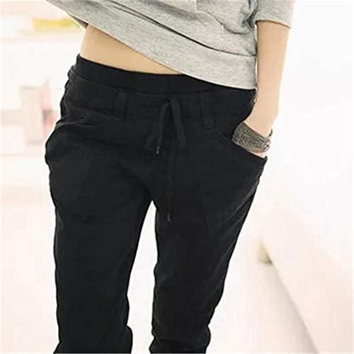 XXL Size FAIYIWO Womens Pure Color Pants Long Loose Casual Small Leg Opening Trouser 3 Colors FAIYIWO Green