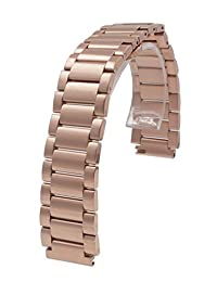 18mm Stainless Steel Quick Release Watch Band Strap For Huawei Smart Watch / Huawei Fit Rose Gold