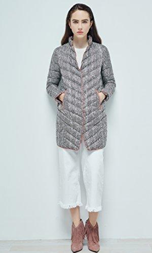 Long Bosideng Premium D'oie Géométrique Femmes Pour Impression Ultraléger Duvet Manteau De 90 Blazer f0Hrfq