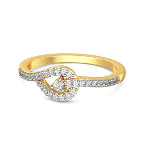 Or jaune 18 K, 0.17 CT TW Diamant Blanc (IJ | SI) en diamant