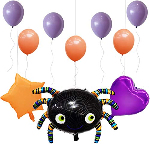 Vacally Combination Spider Balloon Halloween Celebration Wall Decal Halloween Party Supply Home Decoration ()