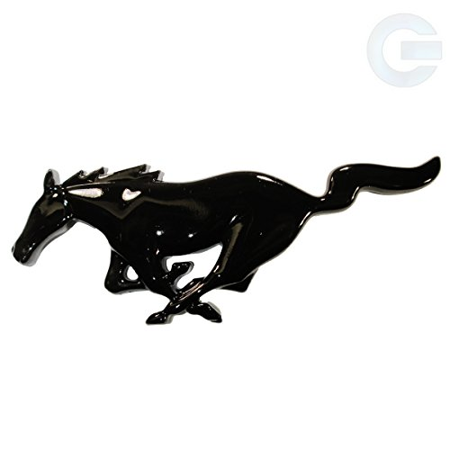 Ford Mustang Running Horse Emblem Badge - Black - Emblem Horse