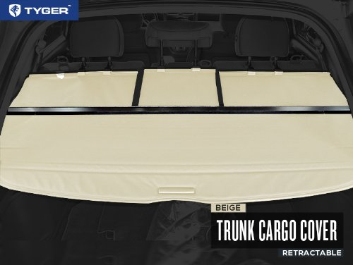 TYGER Beige Retractable SUV Rear Trunk Cargo Cover Shield Fits 07-11 Honda CRV (Gives your Luggage & Baggage in SUV rear cargo trunk Anti-Theft visor shield security shade & UV protection!) (2009 Honda Crv Cargo Cover compare prices)