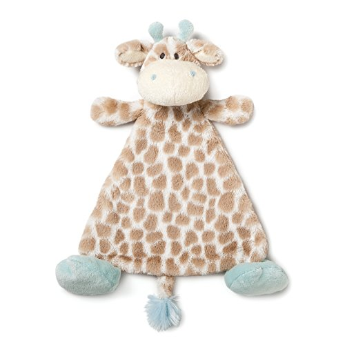 DEMDACO Colby Giraffe Sky Blue Children's Plush Rattle -