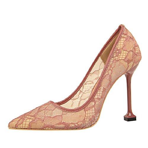 De Zapatos Femeninos Punta Zapatos Singles De De Mujer Zapatos Zapatos Mujer Fina El Morado Expuestos GAOLIM Mujer Con gwXI6q0g