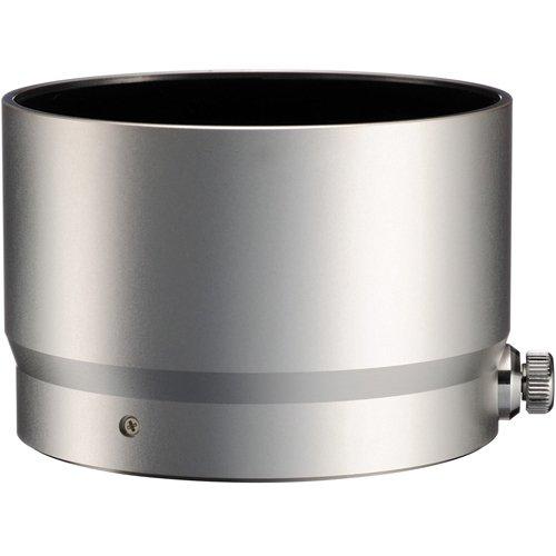 JJC LH-61F Silver Metal Lens Hood & Lens Cleaning Cloth for Olympus M.Zuiko Digital ED 75mm f/1.8 Lens, 100% replaces Olympus LH-61F