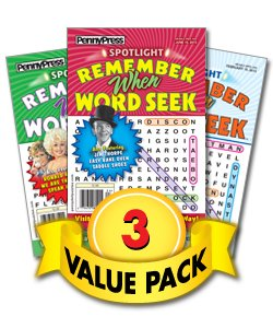 Search Dell Word Magazine Puzzles - Spotlight Remember When Word Seek-3 Pack