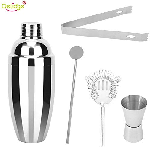 Delidge Stainless Steel Cocktail Shaker Set - 5