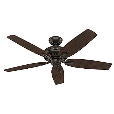 "Hunter 53320 Newsome Ceiling Fan, 52""/Large, Premier Bronze,(Excludes lights)"