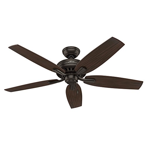 Hunter 53320 Newsome Ceiling Fan, 52 Large, Premier Bronze, Excludes lights