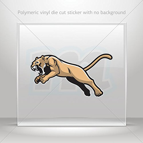 Decals Stickers Cougar Decor Room Durable Decoration Waterproof Racing (3 X 1.60 Inches)