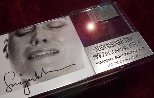 ALIEN ALIEN Movie Screen-Used SHIP PROP, Sigourney Weaver pre-printed AUTOGRAPH, Frame DISPLAY & PLAQUE, DVD, COA, UACC - Movie Memorabilia Props
