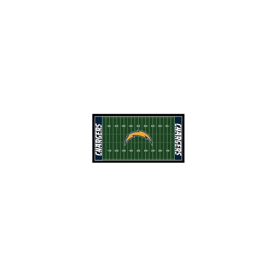 NFL San Diego Chargers XL Football Field Mat