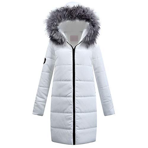 - DEATU New Womens Parka Quilted Jacket Ladies Winter Long Down Outwear Hooded Coat Multiple Style (e-White,X-Large)