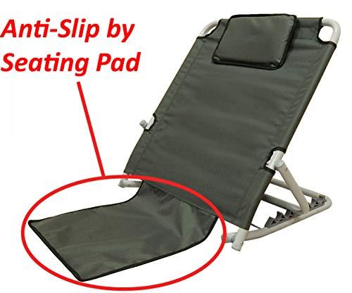ObboMed SM-5200G Adjustable Sit-up Back Rest Orthopedic Neck, Head Lumbar Support, Polyester, PVC & Chromed Steel Frame, Check, 22.5