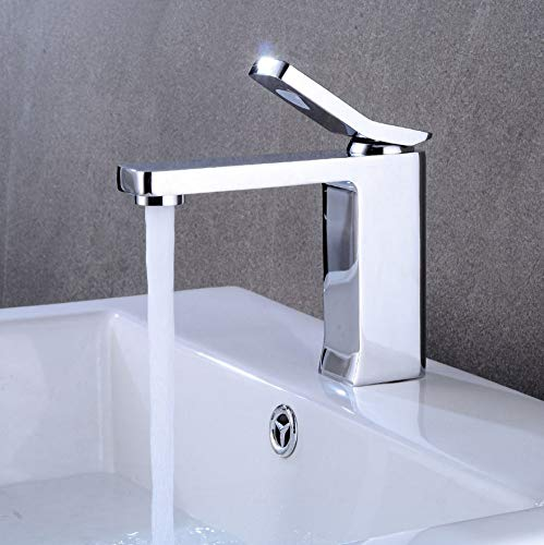 - GONGFF Bathroom Sink Taps Faucet with Built-in tap washbasin tap Creative Retro undercounter Faucet with hot and Cold tap with washbasin tap 1-Hole tap with tap tap washbasin Mixer 1-Section