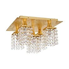 EGLO 97721 iluminación de techo Oro G9 3 W - Lámpara (Oro, Salón, Cepillado, Acero, Transparente, 5 bombilla(s))