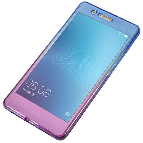 Funda Doble para Huawei P9 Lite, Vandot Bling Brillo Carcasa Protectora 360 Grados Full Body | TPU en Transparente Ultra Slim Case Cover | Protección Completa Delantera y Trasera Cocha Smartphone Móvi JBQB 01
