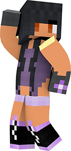 [Purple Girl, Wall Decal Sticker for Kids Room, Vinyl, 2 Feet Tall, EnderToys] (Ghast Minecraft Costume)