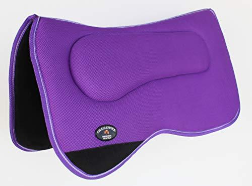CHALLENGER Equine Western Horse Saddle PAD Anti Slip Memory Foam Purple Tack 3964PR