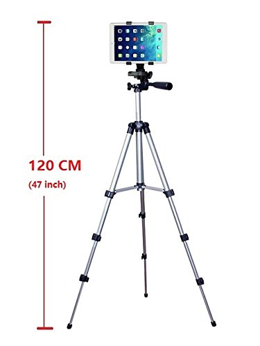 Pro Camera Stand (41 Inch Camera Tripod and Tablet Mount Holder Stand for Ipad Pro 9.7,Ipad Air 2 1,Ipad 4 3 2)