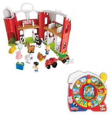Fisher Price Animal Friends Farm and Farmer See N Say Gift S