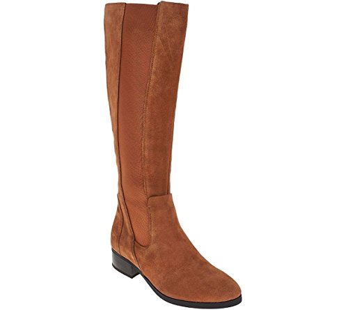 H by Halston Halston Gored Tall Shaft Boots Naomi A269760 Camel Suede 6dQnxd6WJ