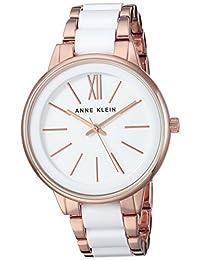 Anne Klein AK1412WTRG Reloj Análogo para Mujer, color Blanco