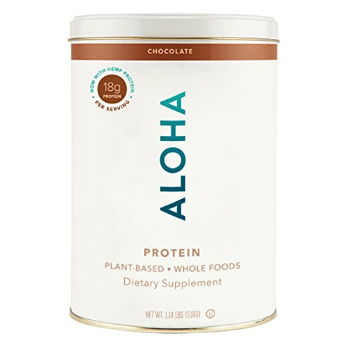 ALOHA Organic Plant Based Protein Powder, Stevia Free, Chocolate, 19.6 oz, 15 Servings - incensecentral.us