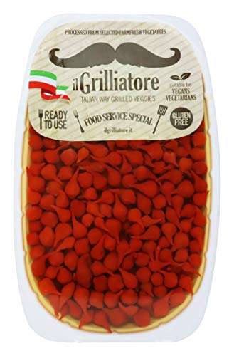 ilGrilliatore- Authentic Italian Sweet Drop Red Peppers Ready To Use Gluten Free FarmFresh 2.20 Pound ()