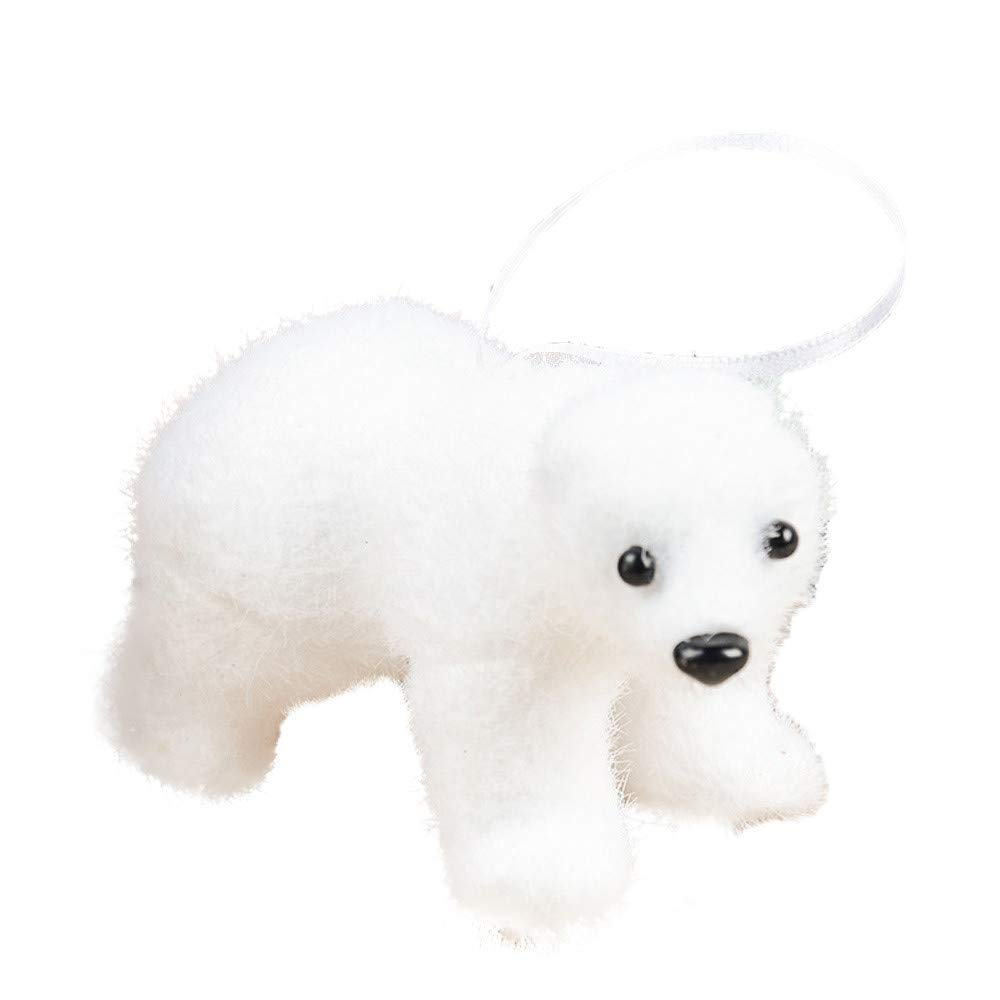 DMZing 1 Pc Christmas Tree DIY Pendant White Bear Party Home Office Decor Ornament Cute Kids Gift (A)