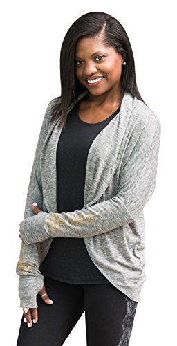Gaiam Women's Peace Yoga Wrap, Heather Grey, Small