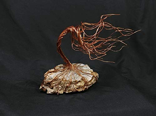 World Tree of Life - Copper Wire Sculpture #1684 Spirit Tree - Steampunk Upcycled Industrial Christmas Wedding Housewarming Gift Mother's Day Christmas ()